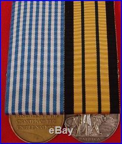 Scarce To Regiment Mau Mau Uprising & Korean War Irish Fusiliers Medal Pair