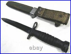 Scarce WWII Korean War US GI M1 Carbine Kinfolk Bayonet Web Beltloop Scabbard