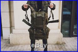 Set Of Ww2 Korean War Vietnam Us M1945 Backpack Set Combat Pistol Belt Suspender