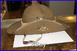 Slouch Australian Military Forces Korean War Rising Sun Hat Badge 1948-53, 59cm