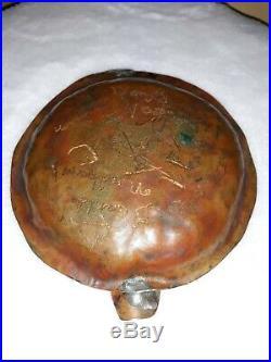 Trench Art Korean War Brass Artillery Ammo Shell Ashtray Collectible Rare