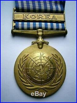 Trio Korean War medals 1950-53 General Service Palestine 1945-48 Pte Laird REME