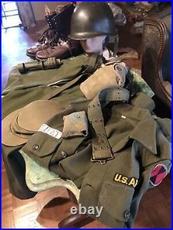 U. S Army Korean War Uniform Helmet And Field Gear Original Period Set