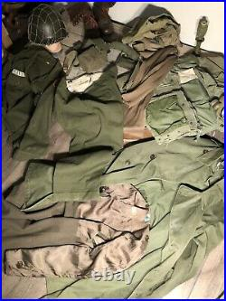 U. S Army Uniform, Helmet, Gi. Korean War authentic period 1947-55 artifacts