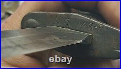 U. S. J And D Tool Co US M5 Bayonet Korean War Era With US M8 Scabbard