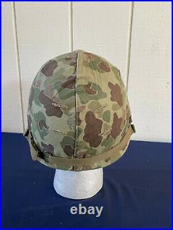 U. S Korean War Era Marine Corps Helmet with Cover