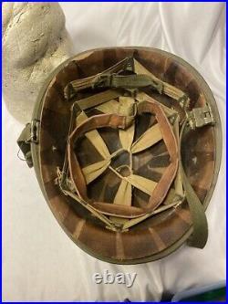 U. S Korean War M1 Helmet SB RS With Liner (VB386) Militaria Collectible