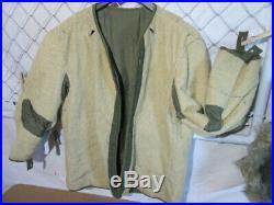 U S Military Fishtail Parka M1951-M1951 Liner Wool-Alpaca Korean War Date1951 /3
