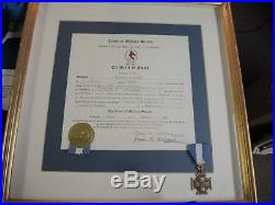 UDC Korean War medal & certificate to Rodgers United Daughters of the Confederac