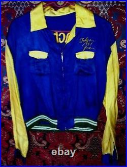 UNIQUE Authentic VINTAGE Korean War Era Satin Embroidered Jacket TOKYO JOE 1951