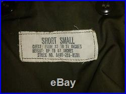 UNISSUED Vtg US Army OG-107 M-51 Korean War Field Jacket NOS Short Small