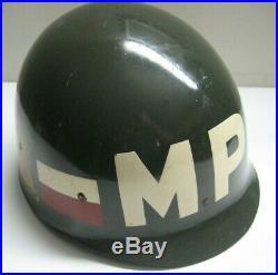 /US ARMY 728TH MP MILITARY POLICE HELMET LINER, Korean War