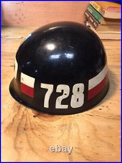 US ARMY 728TH MP MILITARY POLICE HELMET LINER, Korean War