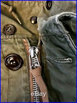 US ARMY M-1947 M47 Parka Field Coat Korean War Uniform Overcoat Med