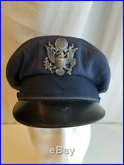US Air Force PILOT BANCROFT FLIGHTER CAP Crusher I'd Named Original Korean War