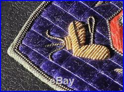US Army CHAIRBORNE PATCH JAPAN Korean War ERA BULLION Silk Quilted US 8th Army