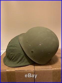 US Army Korean War M1 Helmet With Liner