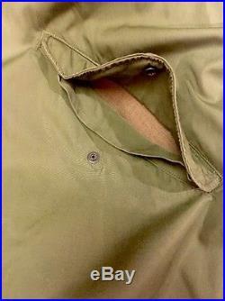 US Army Korean War Military M 1951 Fishtail Parka Shell Hooded Coat Jacket L GUC