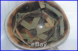 US Army Korean War Red damage control firefighter helmet with liner