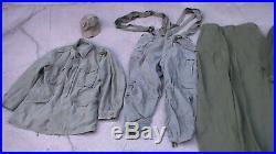 US Army M-1951 Korean War era Combat Uniform / Jacket / Pants / Hat / More Used