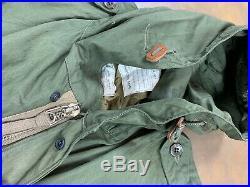 US Army M-1951 M51 Fishtail Parka 1952 50s Korean War Military Marines Depot
