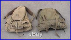 US Army WW2 & Korean War Mountain Troop Alaskan Rucksack Field Pack Backpacks