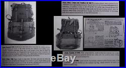 US Army WW2 to Korean War M-1945 Fieldpack Backpack & Belt, Canteen, Shovel USED