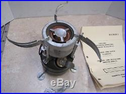 US KOREAN WAR ERA M1950 GAS STOVE ROGERS MFG With MANUAL AND WRENCH DATED1952