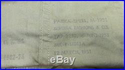 US KOREAN WAR ERA M1951 FISHTAIL PARKA With FRIEZE LINER MEDIUM DATED 1953 COLD