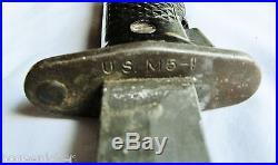 US Korean War Era M5-1 Bayonet withM8A1 Scabbard M1 Garand J & D Tool Co