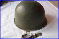 US Korean War Front Seam Fixed Bale Named M1 Helmet No Liner R