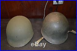 US Korean War Front Seam Fixed Bale Named M1 Helmet and Liner
