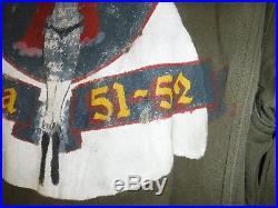 US Korean War GI Mechanic Coverall with F86 Sabre Original Pin Up Vet Artwork