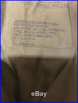 US Korean War M-1950 Field Jacket, 1951, Small/Short, Parka, Nice