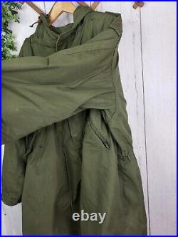 US Korean War M-1951 M51 Fishtail Parka Shell With Wool Liner & Hood XL