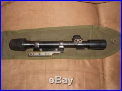 US Korean war M84 Garand M-1C sniper scope Griffin and Howe civilian mount