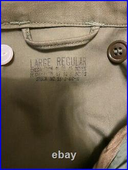 US M1951 1953 Field Jacket with 1952 Liner Korean War Large Regular