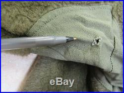 US M48 M1948 Fishtail Parka Liner Pile Original Korean War Era Size Small
