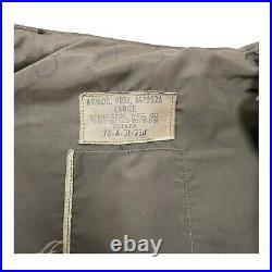 US Military Flak Jacket Fragmentation Protective Vest Sz Large 1953 Korean War