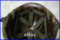 US Military Issue Korean War Vietnam Era M1 Helmet Steel Pot with Liner Set Z6