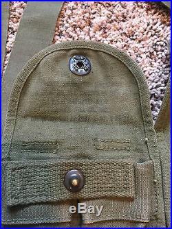 US Military Korean War Combat Belt Suspender Canteen 1st Aid Ammo Flashlight Hat