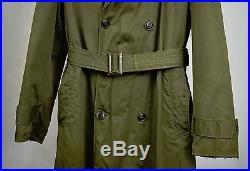US Military Overcoat OG 107 Trench Coat Parka Wool Liner Korean War M Long 1953