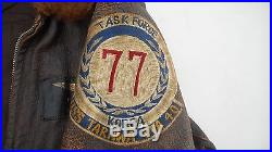 US Navy G-1 Leather Flight Jacket Size 38 USS Tarawa CVA40 Korean War Named