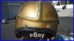 US Navy H-4 Pilots Helmet Size Med MFG Gentex Named To Korean War Era
