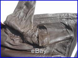 US Navy Vintage G-1 Leather Flight Jacket Size 40 Date Unknown WW2 Korean War