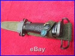 US Original Post Korean War ERA M1-Garand M5A1 Bayonet MILPAR CO. WithScabbard