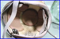 US Post WW2 Korean War Era Navy APH-5 Gold Flight Helmet With Wings
