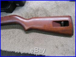 US Post WW2 Korean War M1 Carbine Stock Walnut Pot Belly With Butt Plate Marked SA