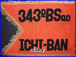 USAF 343d Bomb Sqdn Ichi-Ban Korean War Japanese-Made Guidon