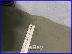 USAF Korean War M47 M-1947 Green Parka Coat with Pile Liner Size Large
